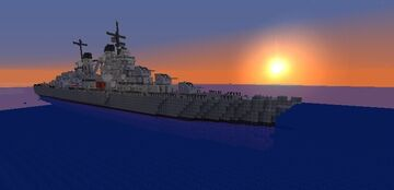 USS Atlanta CL-51 (Navycraft/Movecraft) Warship Minecraft Map & Project