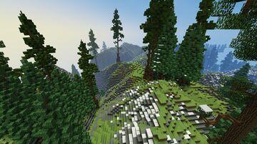Mountain island (landscape) Minecraft Map & Project
