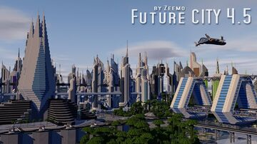 Future city 4.5 for mobile Minecraft Map & Project