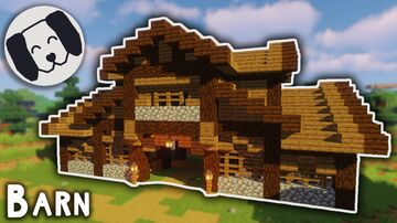 Barn Tutorial! Easy Minecraft Map & Project