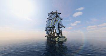 L' Hébé | French frigate (ShipSide) Minecraft Map & Project