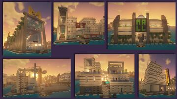 Detailed and Dense Modern City Buildings by Comper – Procedural Metropolis Contest Minecraft Map & Project