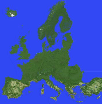 Map of Europe, scale 1:100 (40k x 40k blocks) Minecraft Map & Project
