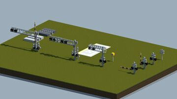 Dreamy's Railroad crossing parts [With Download] Minecraft Map & Project
