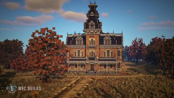 """Missouri House"" Second Empire Haunted Mansion Minecraft Map & Project"
