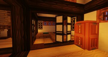 Large Japanese House - With full Survival friendly interior Minecraft Map & Project
