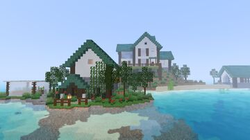 Beautiful Island House With Interior Minecraft Map & Project
