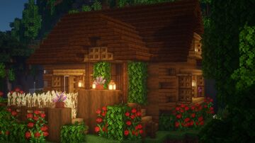 Cozy log cabin. Minecraft Map & Project