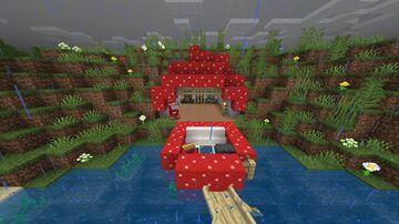 Cottagecore mushroom hobbit hole. Minecraft Map & Project