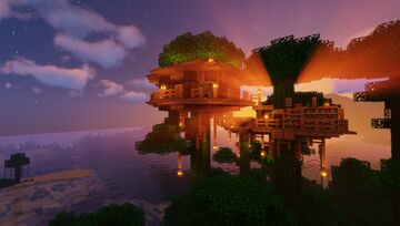 Jungle Survival Treehouse Minecraft Map & Project