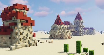 4 Desert Houses Minecraft Map & Project