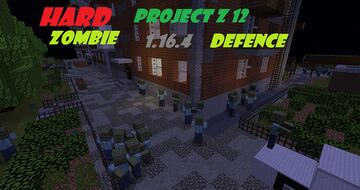Project12 Zombie Defence 1.16.4 Minecraft Map & Project