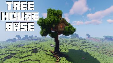 Tree House Base Minecraft Map & Project