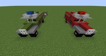 1930's German Fire Trucks WW2 Minecraft Map & Project