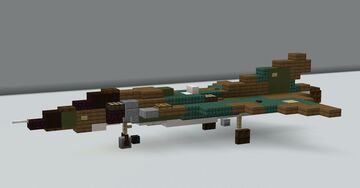 Saab 35 Draken(1.5:1 scale) Minecraft Map & Project