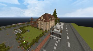 Building made out of Sandstone. Real life rebuild. Minecraft Map & Project