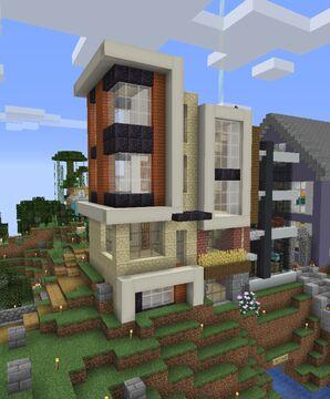 Warm Modern Townhouse 2 Minecraft Map & Project