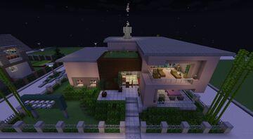 Modern House // Modernes Stadt - Haus Minecraft Map & Project