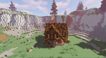 Serene Medieval House Minecraft Map & Project