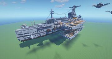 Steampunk Sabertooth-Class Carrier Minecraft Map & Project