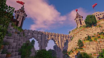 Castle on a mountain Minecraft Map & Project