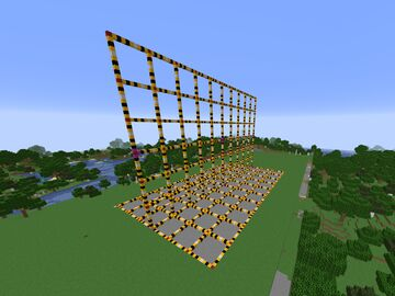 Measure grid to support building to scale Minecraft Map & Project