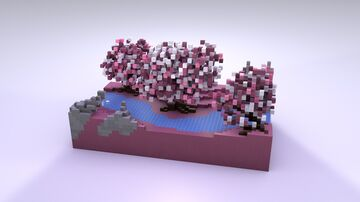 Sakura River - 1v1 PvP Map Minecraft Map & Project