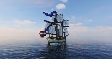 USS Blue Swallow | American Schooner (ShipSide) Minecraft Map & Project