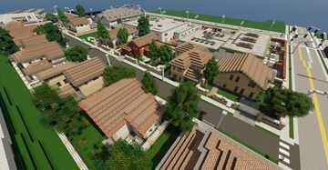 A californian 80's residential street Minecraft Map & Project