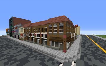 Strip Mall Restaurant/Building {1.5:1 Scale} Minecraft Map & Project