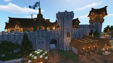 Medieval Castle/City Gate Minecraft Map & Project