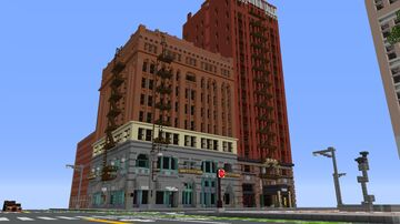 Portland, Oregon and San Francisco building reference in Minecraft 1.5:1 scale. Shader's version! Minecraft Map & Project