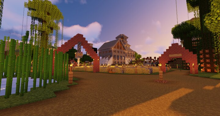 Spawn area in Spawn Town.