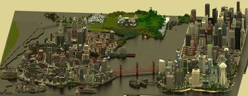 Gotham City & Metropolis Project Minecraft Map & Project