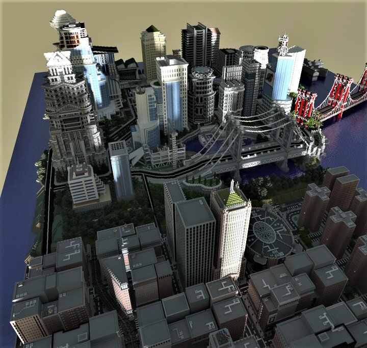 Gotham City & Metropolis Project Minecraft Map