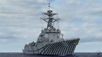 DDG-92 USS Momsen | Arleigh Burke Flight IIA Minecraft Map & Project