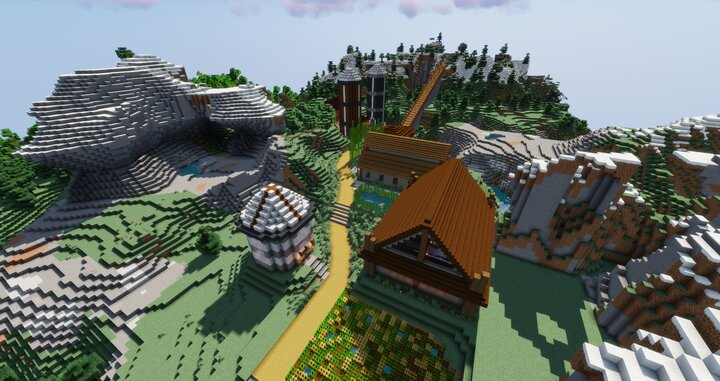 Town of Woodland. 0.7 Kilometres north of Spawn town. Coordinates  492, 71, -1202