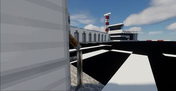 Caserne de pompier d'Orly   Orly Airport Fire Station Minecraft Map & Project