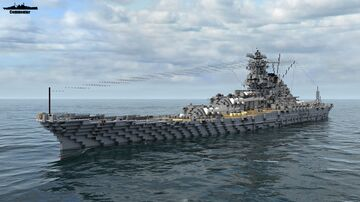 IJN Yamato 1:1 Scale (All Versions) Minecraft Map & Project