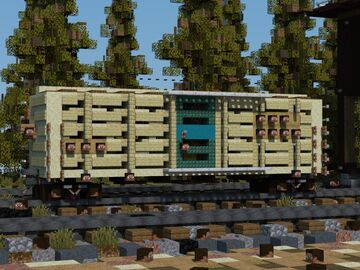 """Boxcar 40 ft for animal """"The Katy"""" Minecraft Map & Project"""
