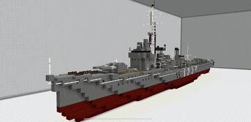 IJN Shiratsuyu Japanese Destroyer Minecraft Map & Project