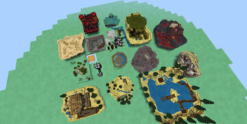 15 Arenas For PVP Or Fighting Minecraft Map & Project