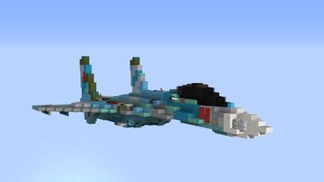 Sukhoi Su-27 Flanker-B Minecraft Map & Project