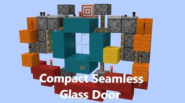 Compact Seamless 2x2 Glass Door Minecraft Map & Project