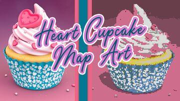 Heart Cupcake Map Art Minecraft Map & Project