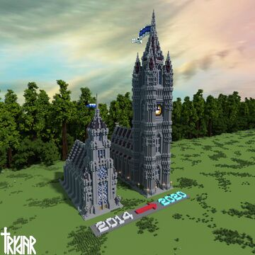 2014 & 2020 Town Hall Designs +Tour & Construction Video Demo Minecraft Map & Project