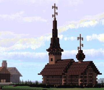 Tserkov' Rozhdestva Ioanna Predtechi (Church of the Nativity of Saint John the Baptist) Suzdal, Russia Minecraft Map & Project
