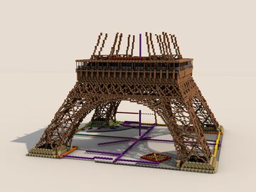 Eiffel Tower | Paris [1:1] for BTE Project Minecraft Map & Project