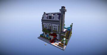 "LEGO Modular ""Parisian Restaurant"" Recreation Minecraft Map & Project"