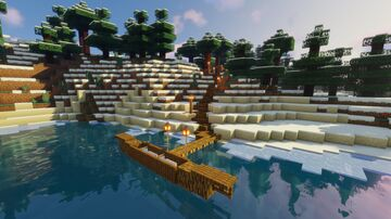 Minecraft Tutorial: How To Make A Canoe Minecraft Map & Project